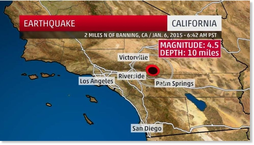 the red circle outlines the epicenter of the earthquake that struck southern california wednesday morning