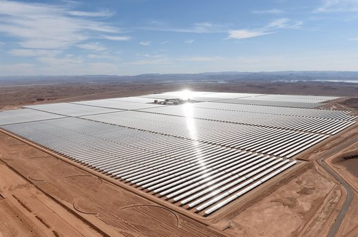 Morocco unveils a massive solar thermal power plant in the Sahara