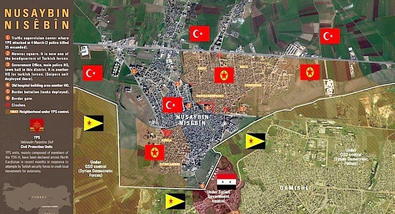 Ankaras War On Kurds Spills Onto Syrian Civilians Across The - Qamishli map