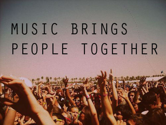 music brings people together essay Some people think that music brings benefits to individuals and societies others,  however think that music can have a negative influence on.