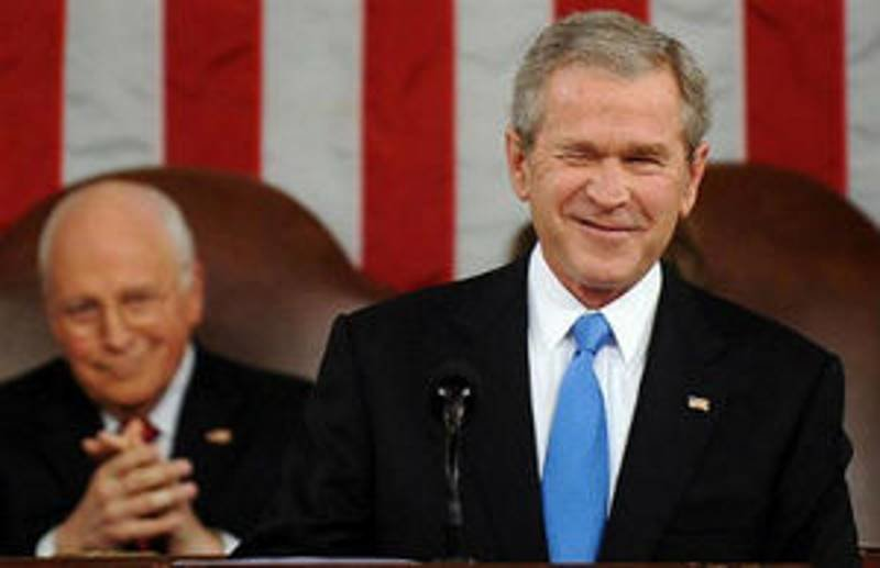 Image result for Bush and Cheney together in the 9/11 commission enquiry