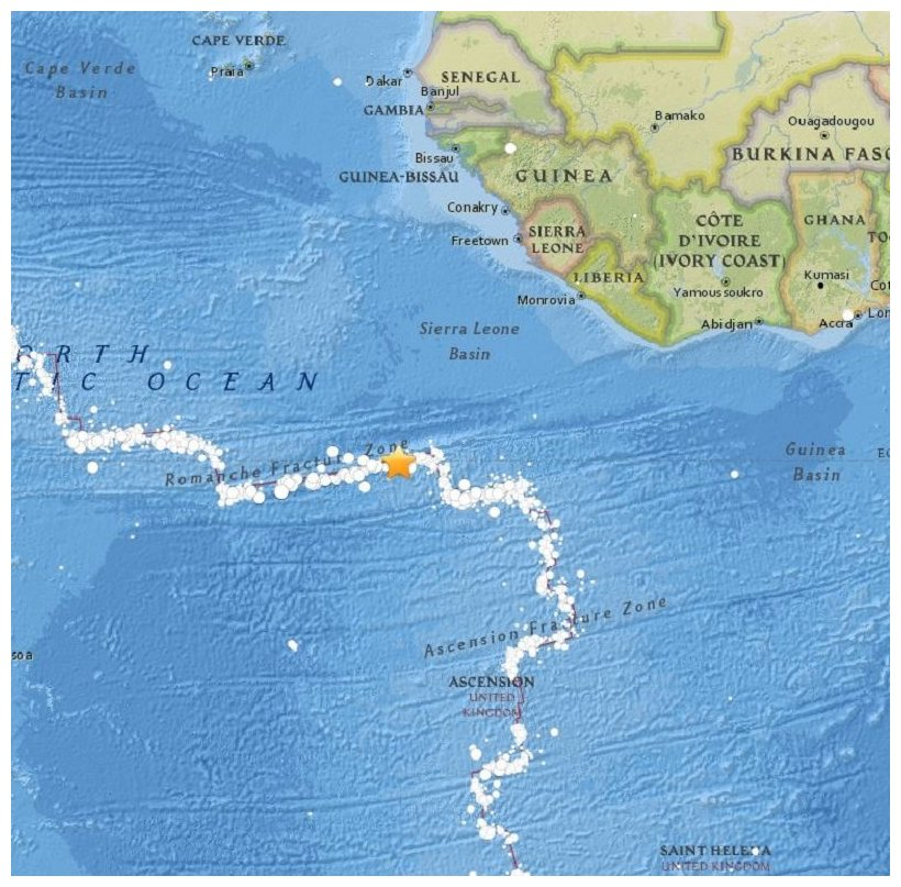 71 magnitude earthquake strikes North of Ascension Island Earth