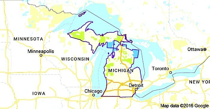 US Govt Being Sued By The ACLU For Making Entire State Of Michigan - Us border zone map