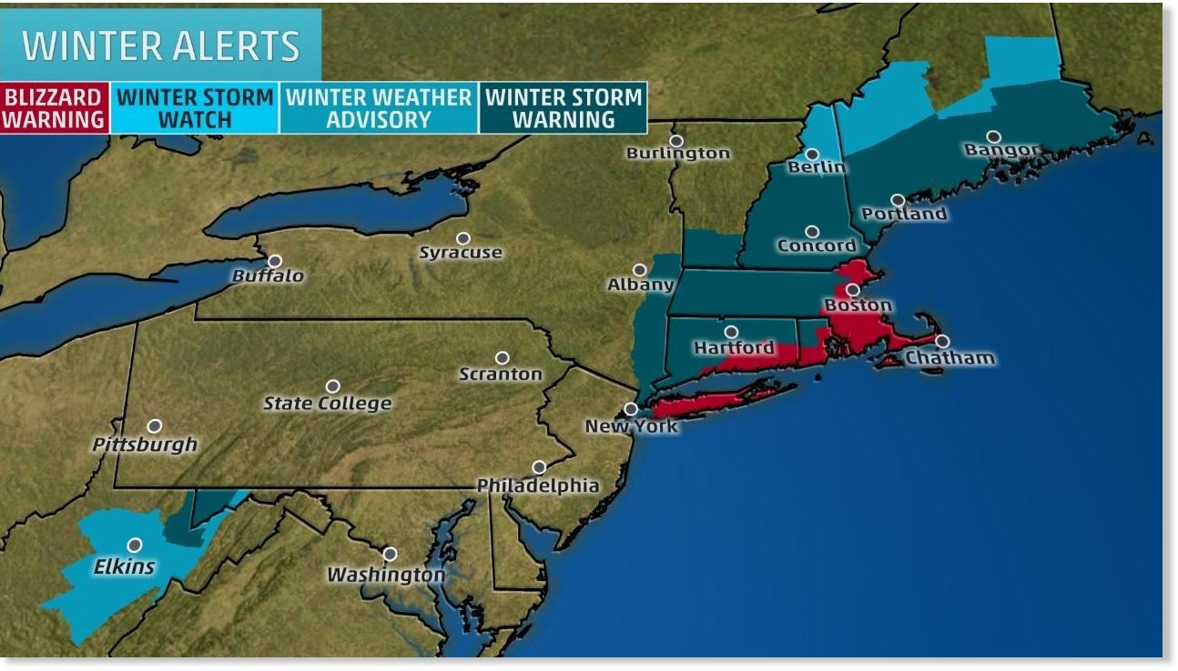 Blizzard Warnings as Winter Storm Niko hammers US Northeast -- Earth  Changes -- Sott.net