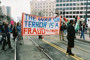 The War on Terror is a Fraud - Activist Banner