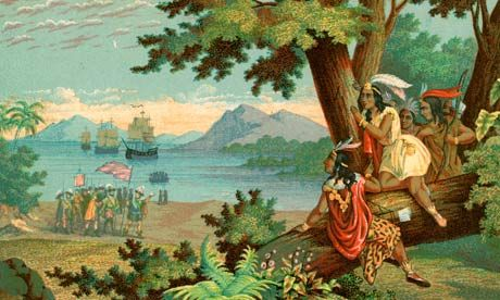 did christopher columbus meet indians