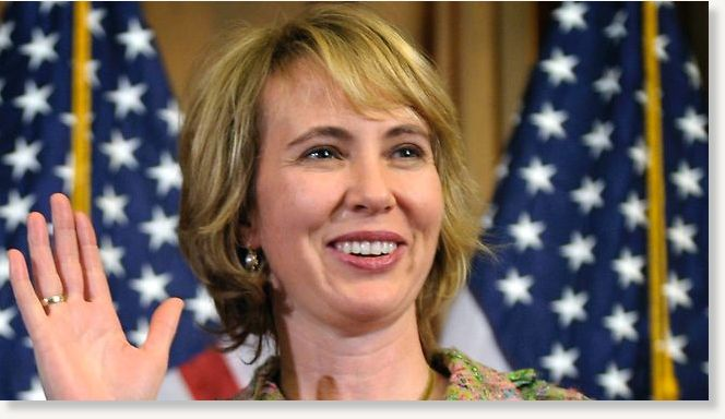 Gabrielle Giffords was shot in the head at a Tucson supermarket