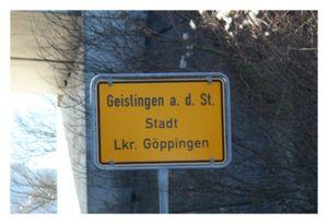 Geislingen Street Sign