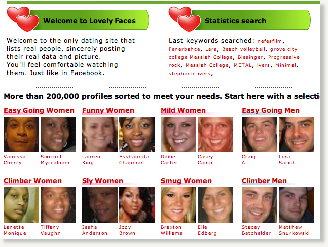 Faces dating site