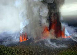 eruption of Mt. Nyamuragira