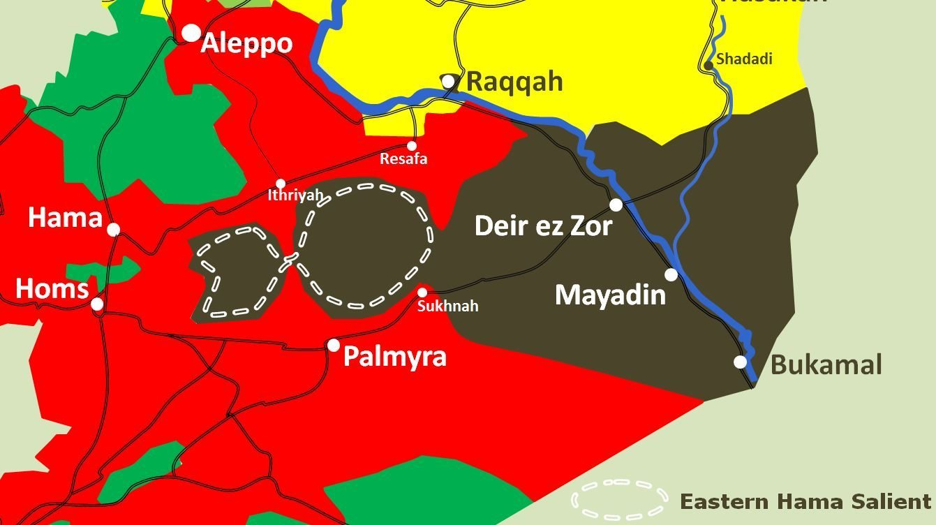 Syria summary Crossing the Euphrates at Deir ezZor Puppet