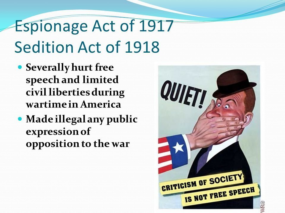 The Espionage Act of 1917: When the US government declared ...