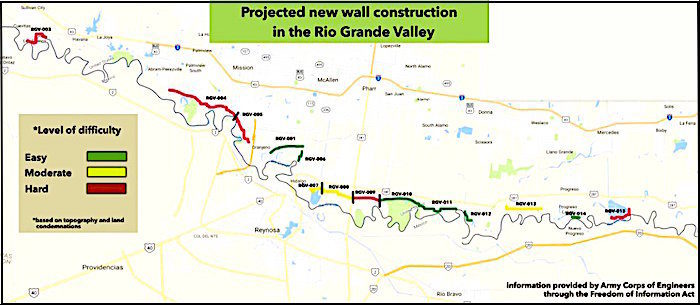 Do Not Publish Documents Reveal Details Of USMexico Wall - Us mexico wall map