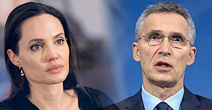 Image result for stoltenberg + angelina jolie