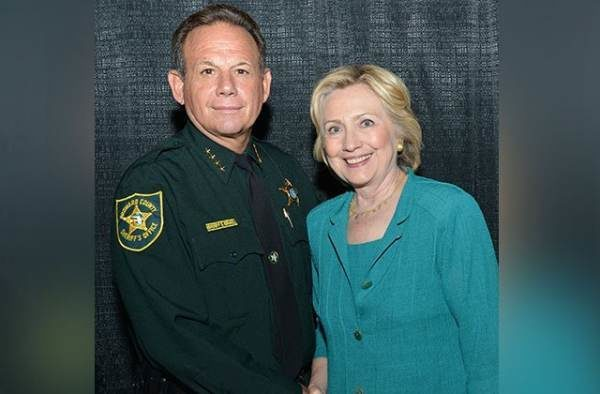 Image result for Sheriff Broward county with hillary pic