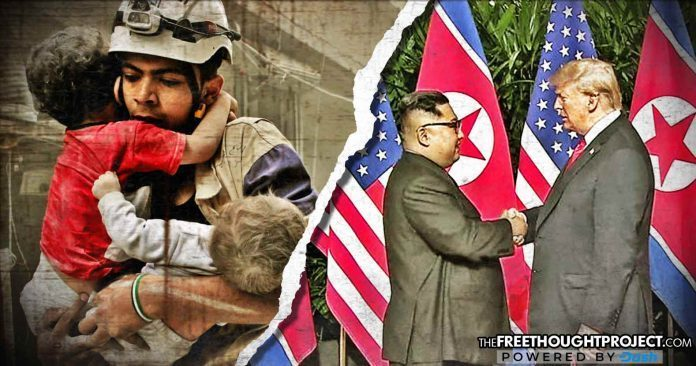 While the world focuses on Kim-Trump summit, an imminent false flag chemical attack is predicted in Syria -- Sott.net