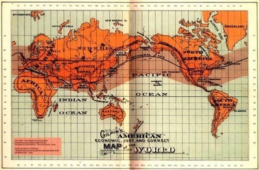 Gilpins American map of the World