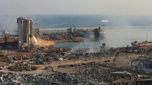 Beirut Port area after the 2020 blast