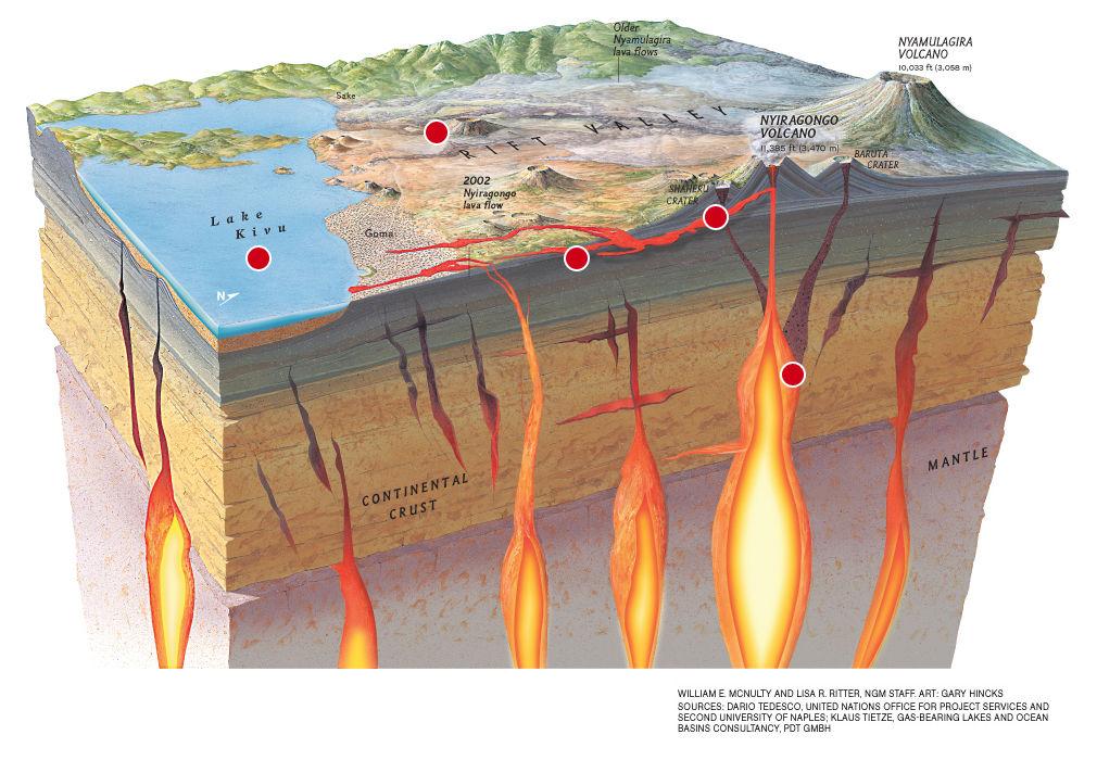 Congo  Nyiragongo Volcano -- Earth Changes