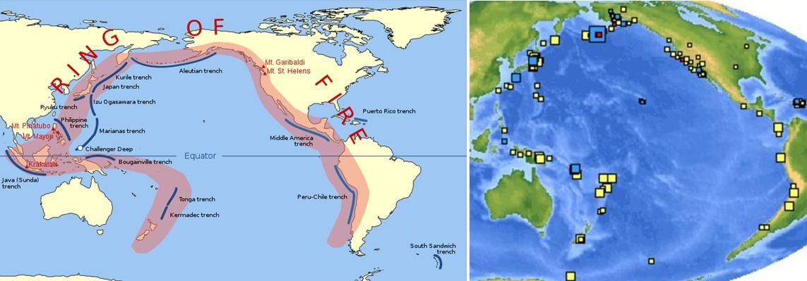 World Map Earthquakes Last Seven Days Image Collections