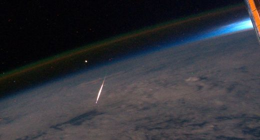 persied meteor in space