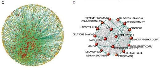 Financial Network topology