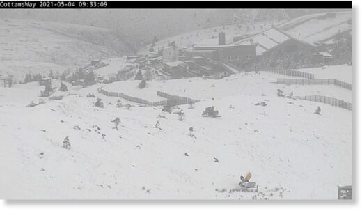 Snow has blanketed the Cairngorms this morning