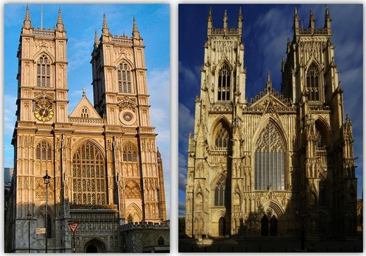 westminster abbey,york minster