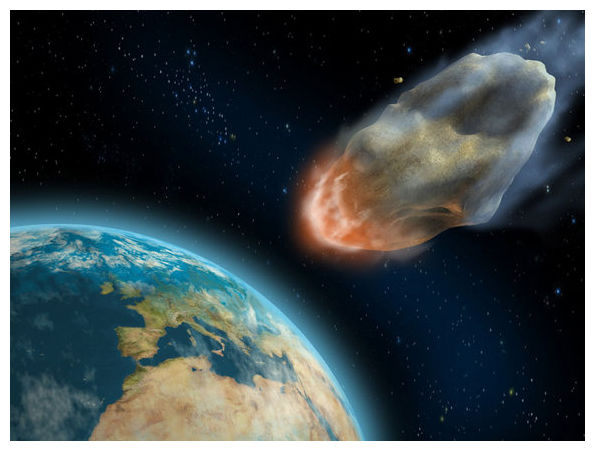 Asteroid Hitting Dinosaurs - Pics about space