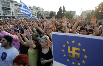 EU Stasi to Patrol Internet for Politcal Enemies Opposed to European Integration  eu nazi flag