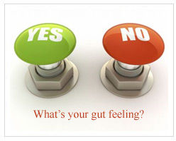 gut feeling graphic