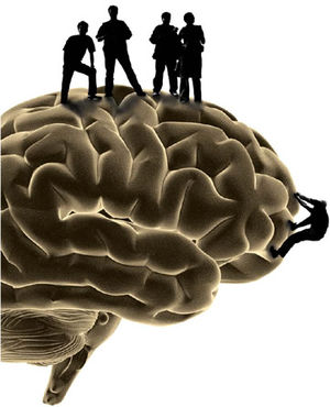 brain w/ people graphic