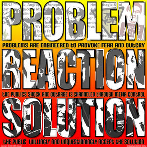 problem, reaction, solution graphic