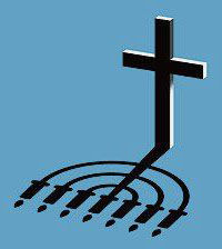cross/menorah shadow graphic