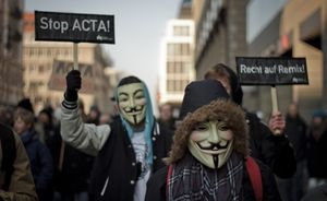 anti-ACTA guy fawkes masks