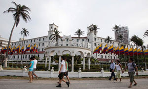 Hotel Caribe in Cartagena, Colombia, where the secret service agents and soldiers stayed.