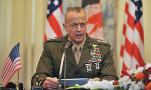 The US commander in Afghanistan, General John Allen