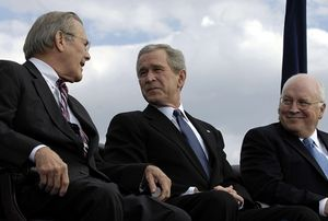 rumsfeld, bush, cheney