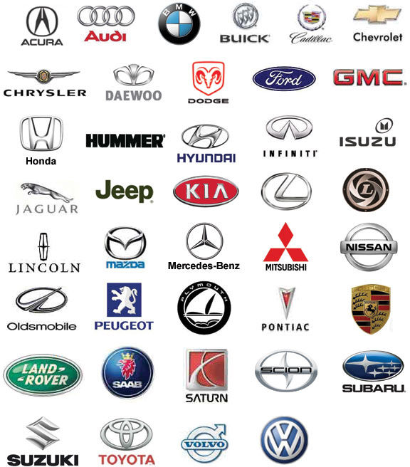 Logo's of various Automobile