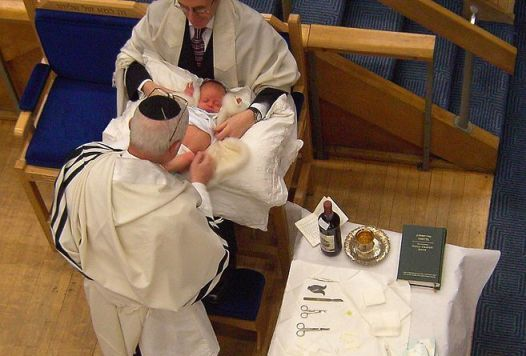 Infants suckling penis