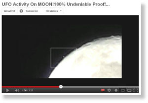 ufo flying around the moon?