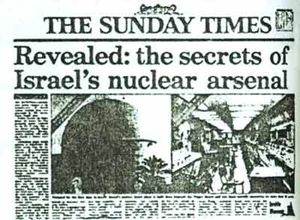 Times article isreal nuclear aresenal