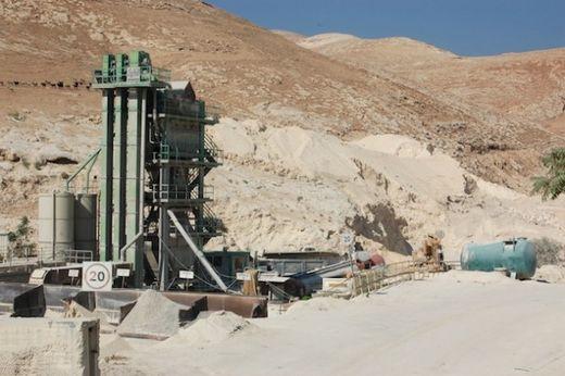 Israeli quarry West Bank