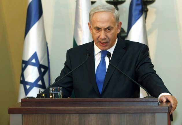 Israeli Prime Minister Benjamin Netanyahu speaks during a joint news conference with his Bulgarian counterpart Boiko Borisov (not pictured) in Jerusalem September 11, 2012.