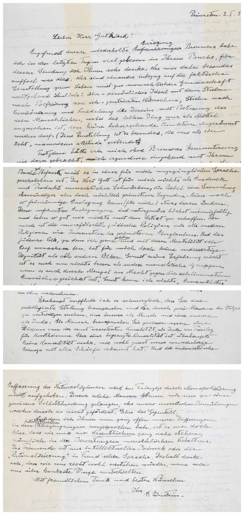 Einstein's letter questioning God goes up for auction ...