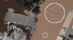Curiosity metallic object mars