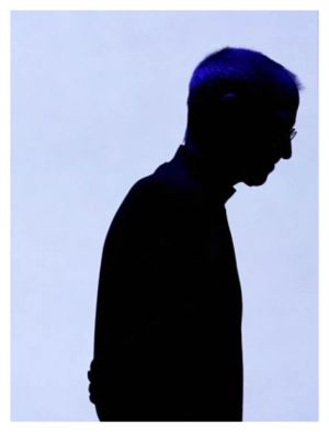 Silhouette of Steve Jobs.