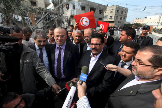 Tunisian Foreign Minister Gaza Visit