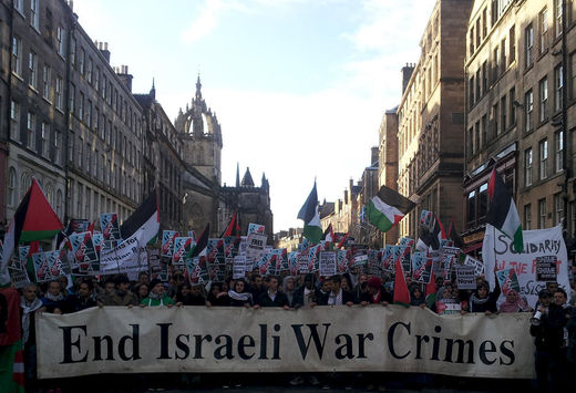 scotland protests against israel