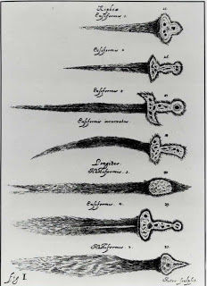 Comet types depicted as daggers